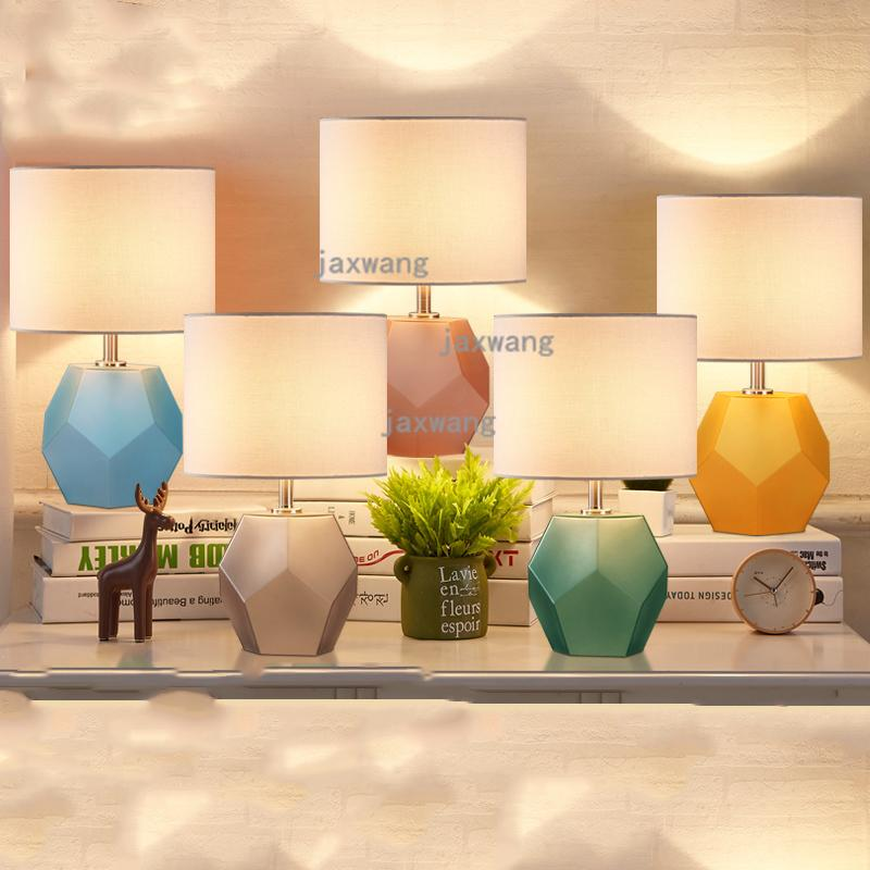 2019 Nordic Wedding Room Table Lamp Modern Living Room Bedside Warm ...