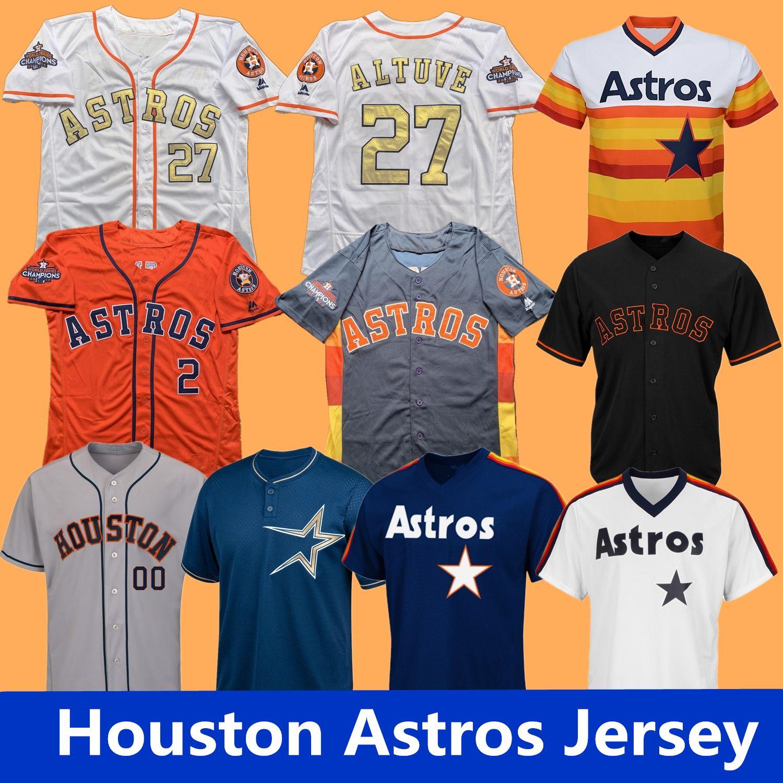 pretty nice ac137 445ad Houston Jimmy Wynn Astros Jersey Jose Cruz Mike Scott J. R. Richard A. J.  Hinch Aledmys Diaz 44 A. J. Reed 26 Myles Straw