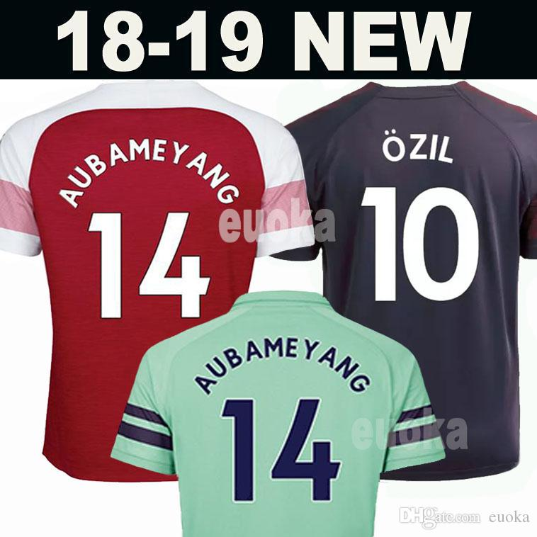 28a1011a224 New 2019 Arsenal Soccer Jersey 2018 AUBAMEYANG OZIL JERSEY 18 19 LACAZETTE  XHAKA TORREIRA Football Kit Top Men Women Kids Kits Soccer Shirt Canada 2019  From ...