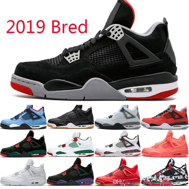 2019 Retro Bred De 4s Baloncesto Jordan Hombres Zapatillas Nike Air TXOPiukZ
