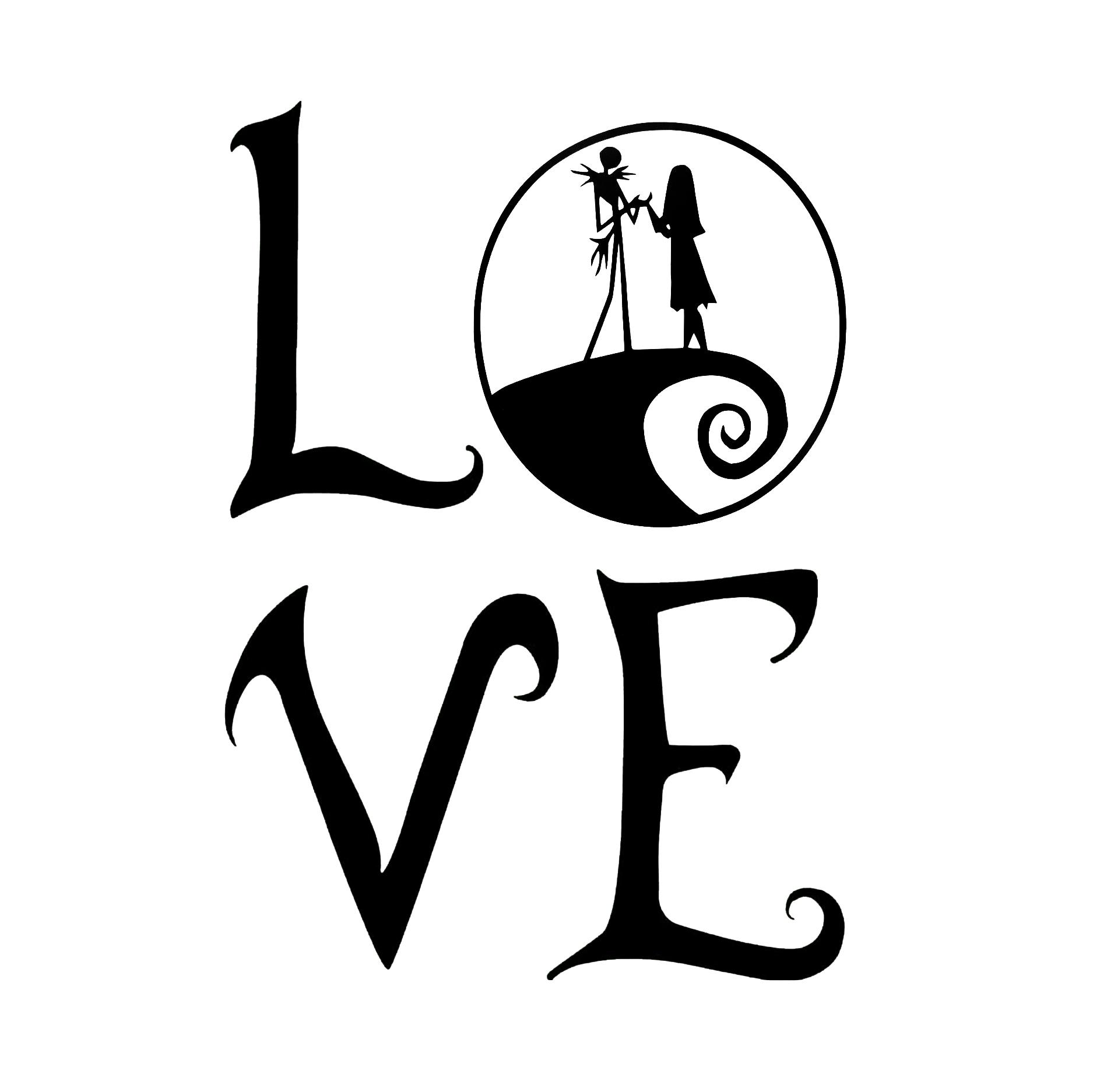 2019 nightmare before christmas love wall decal home cute warm and romantic vinyl car wrap from xymy777 2 92 dhgate com