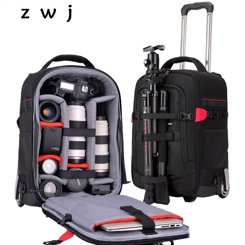 Waterproof Professional Camera Luggage Backpack Camera Suitcase For 2 DSLR  + 7 Lens Travel Photographer Photo Video Bags Online Shopping Travel Duffel  Bags ... 90209adb79