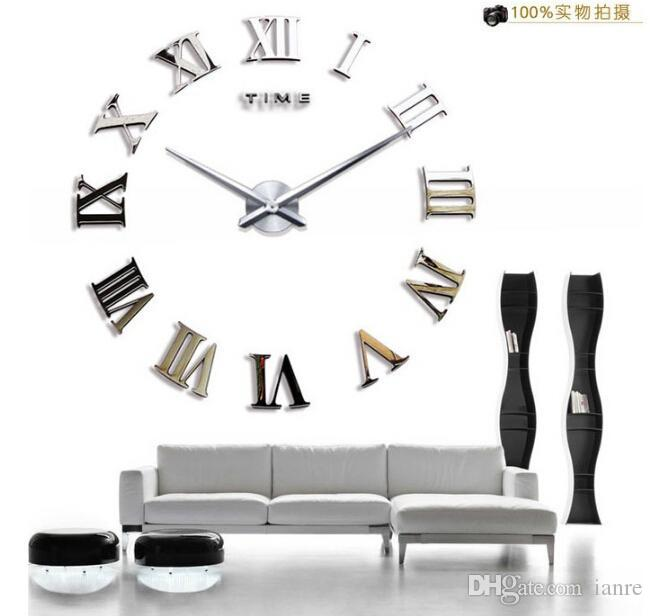 classic rome number fashioncreative home decoration diy acrylic mirror wall clock stickers