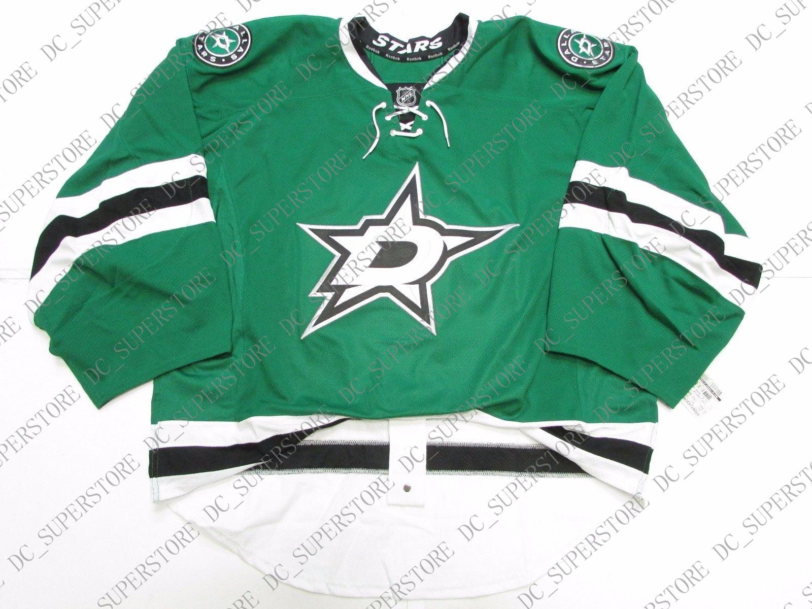 best loved c4319 15a59 Cheap custom DALLAS STARS HOME JERSEY GOALIE CUT 60 stitch add any number  any name Mens Hockey Jersey