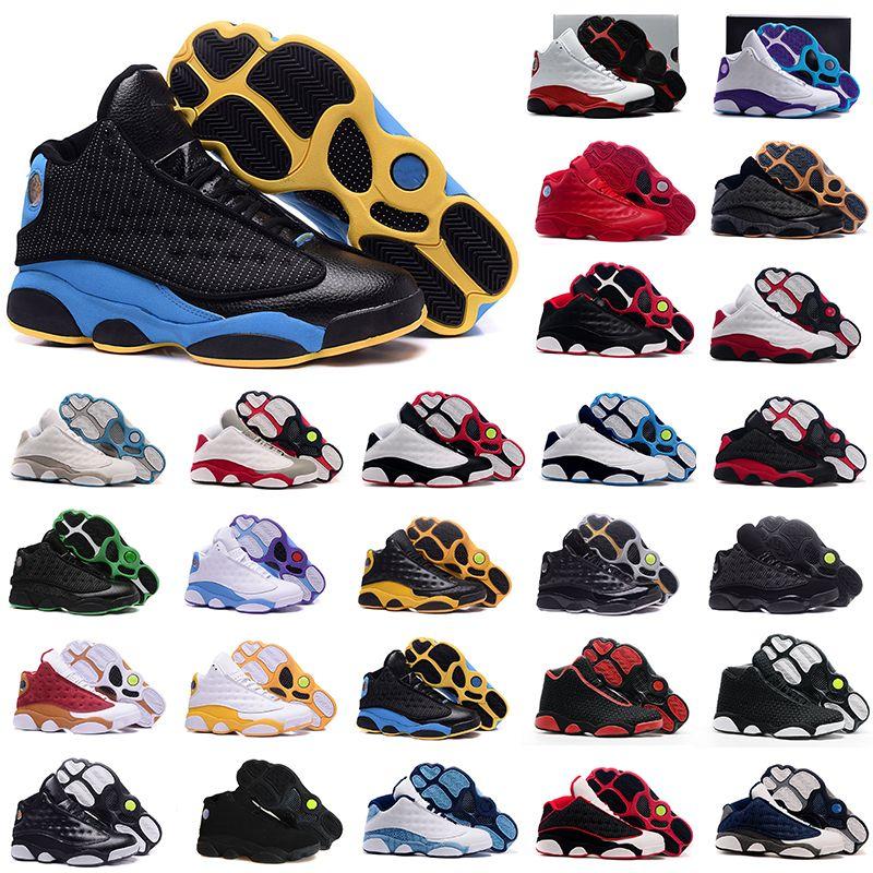new product 188bb e3a8e Compre Nike Air Jordan 13 Aj13 Retro 2018 Air Shoes 13s Breds Rojos Chicago  Gatos Baratos Capitán Lobo Gris Oliva Historia XIII Toros Oro Alta Calidad  ...