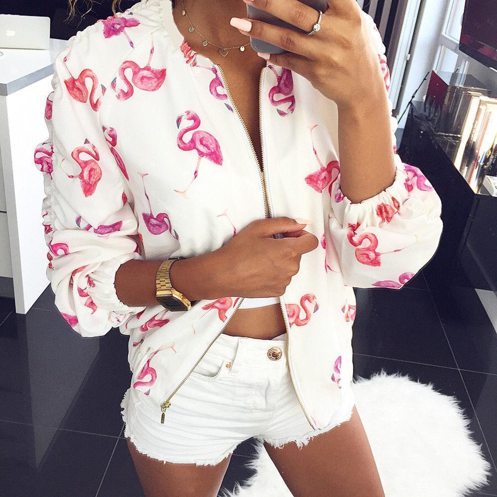 5bdd7dabe Compre Mulheres Casaco Fashion Designer Floral Zipper Up Casaco ...