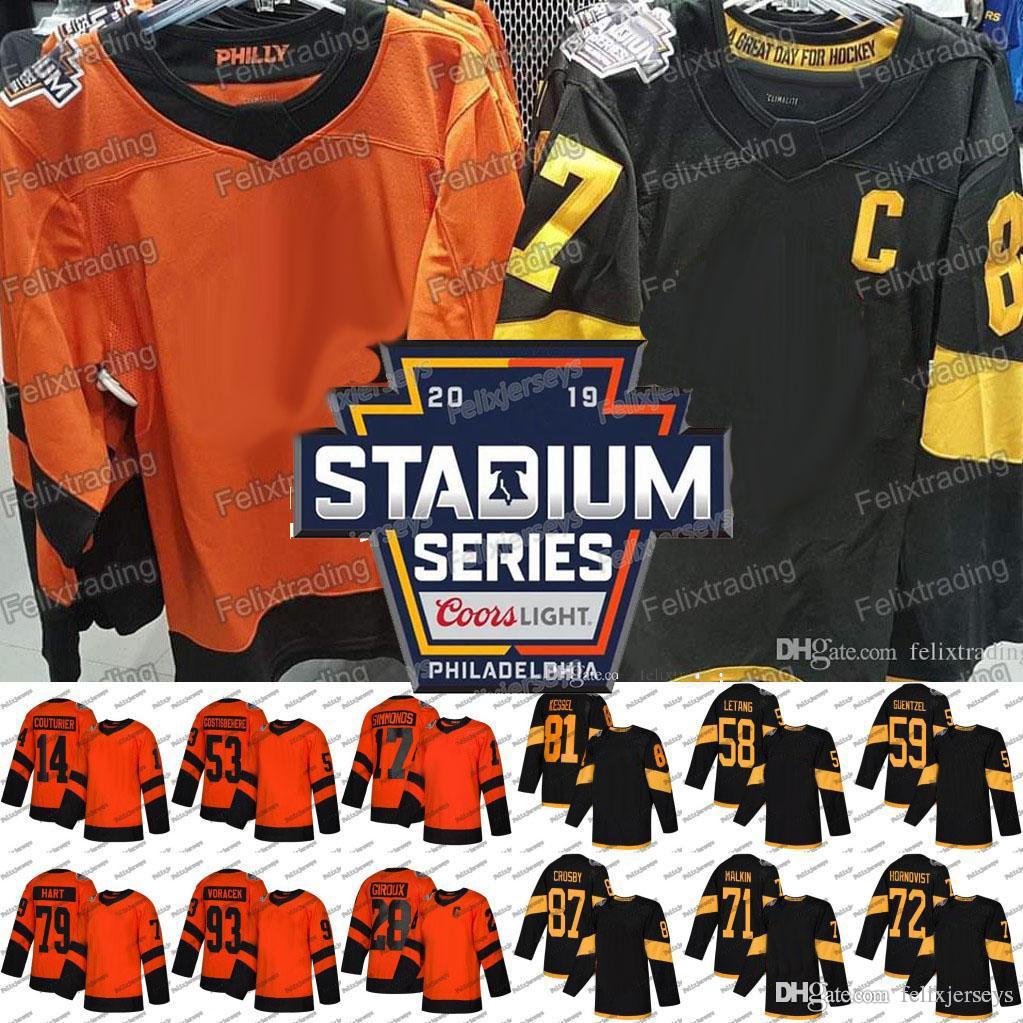 2019 Jake Guentzel 2019 Stadium Series Patric Hornqvist Jakub Voracek  Carter Hart Claude Giroux Wayne Simmonds Sidney Crosby Phil Kessel Jersey  From ... c54fb2862