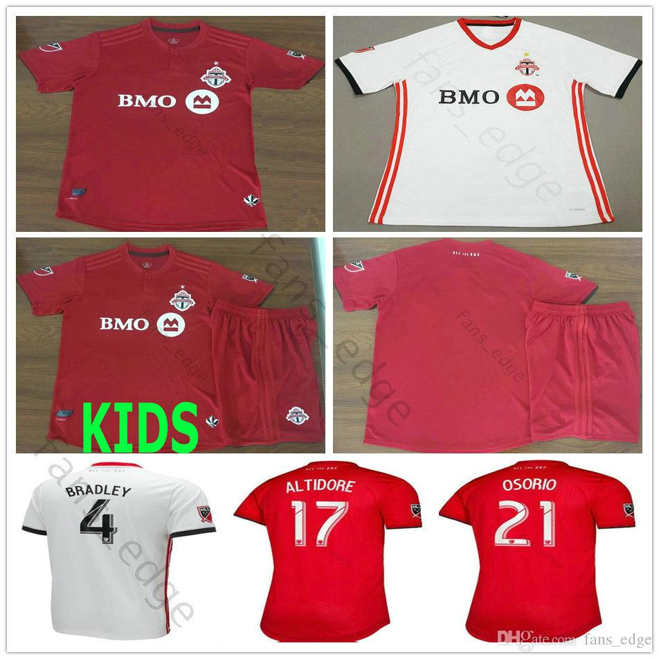 new style 0d56d a7c21 19 20 Toronto FC Soccer Jersey 4 BRADLEY 10 GIOVINCO 17 ALTIDORE 21 OSORIO  Home Red Away White Customize 2019 2020 Football Shirt