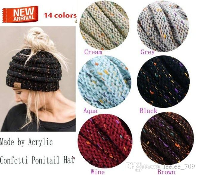 b356433ff4a Fashion Ponytail Knit Hat Fashion Girl Women Winter Warm Hat High Leisure  Hat Online with  3.24 Piece on Leelee 709 s Store