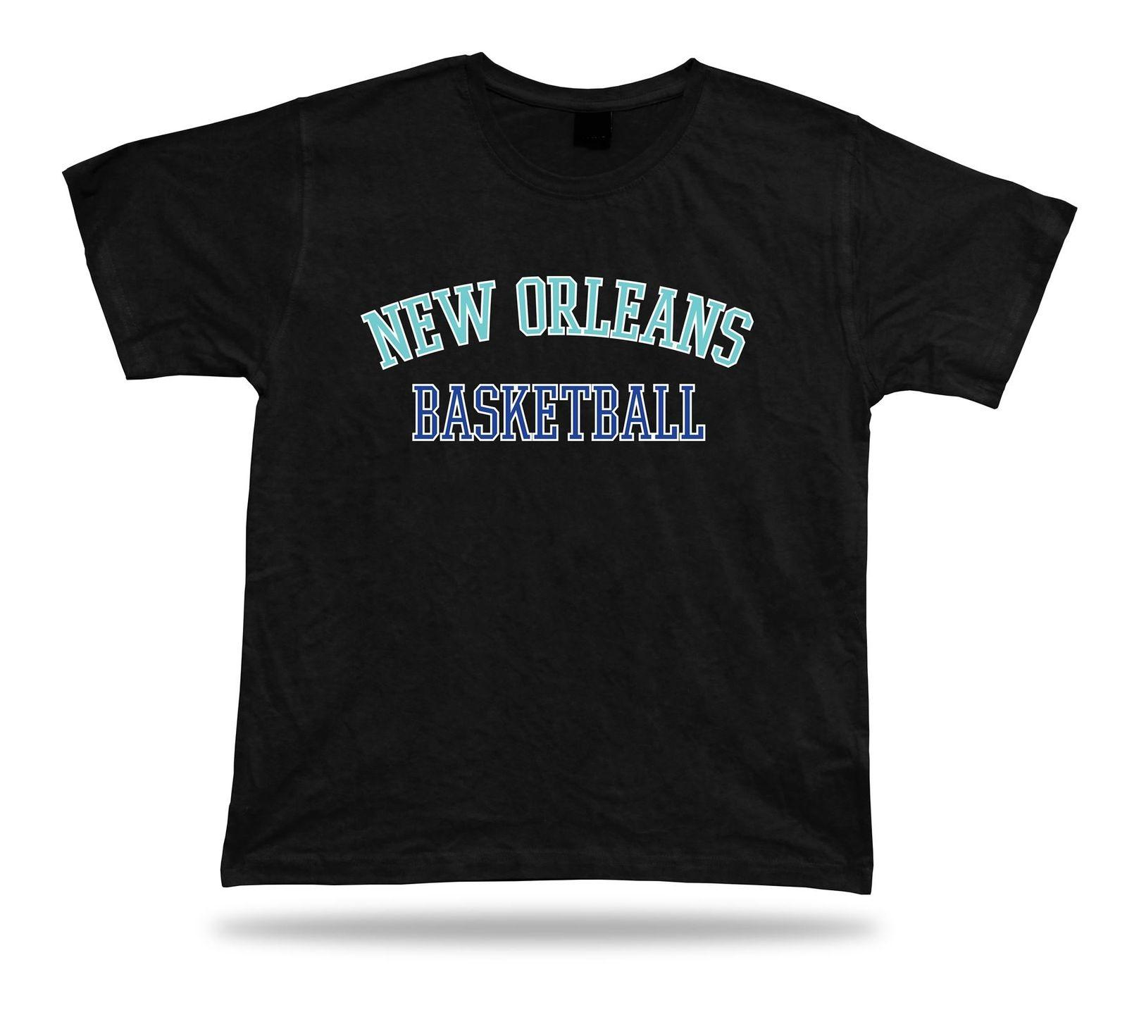 11e237638 New Orleans USA BASKETBALL T Shirt Tee Warm Up Style Court Side Design  Funny Tee Shirts Hipster O Neck Cool Tops Retro T Shirts Tshirt Designs  From ...