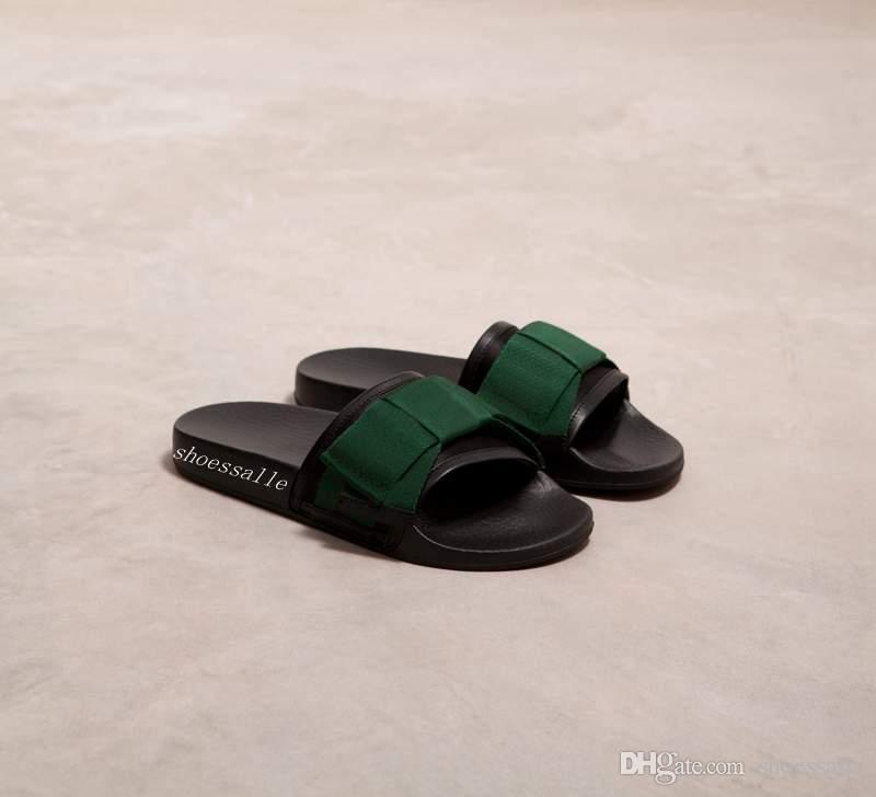 e6e3eb240 2018 Mens And Womens Fashion Wide Satin Web Bow Slip-on Slide Sandal ...