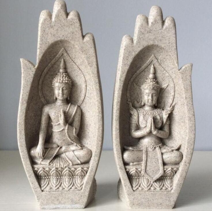 Compre Pequeno Buda Estátua Estatueta Monge Tathagata Índia Yoga Mandala  Mãos Esculturas Acessórios De Decoração Para Casa Ornamentos De Dong1222 c7a54e5a46e