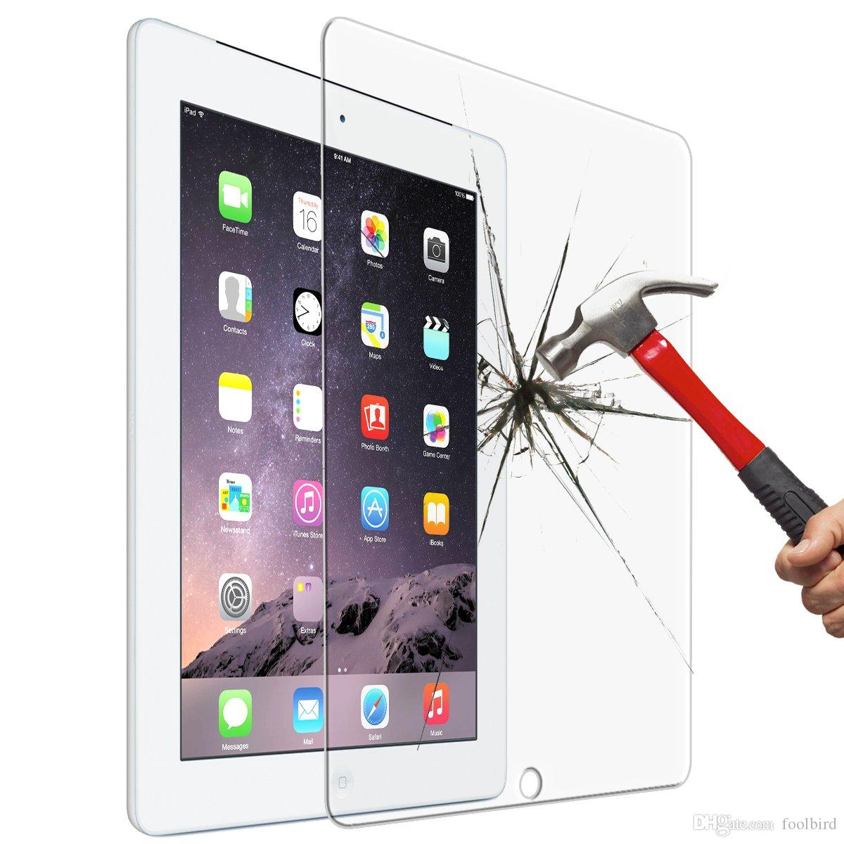 0.4mm 9.7 Inch Transparent Premium Tempered Glass for iPad 2 3 4 Glass Screen Protector for iPad Air 2 Air2 Pro 9.7""