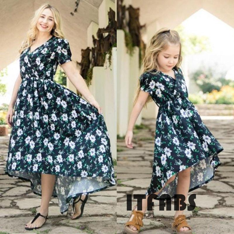 c05576439b Mother And Daughter Clothes Parent Child Floral Dress Family Matching  Outfits Baby Girl Midi Dress Family Clothing Sets Father And Son Matching  Clothes From ...