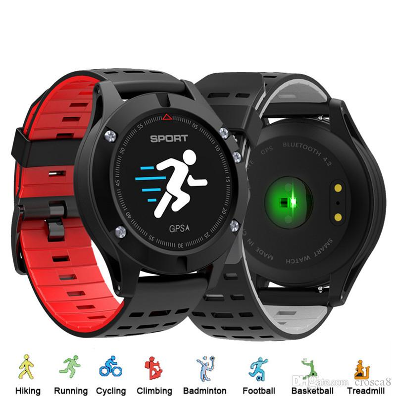 F5 Smart Watch GPS Altimeter Barometer Thermometer Bluetooth 4 2 Waterproof  Multi-sport Mode Smartwatch for IOS Android
