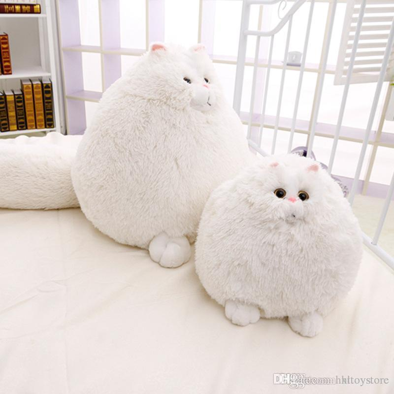 Lovely Simulation Persian Cat Plush Toys Soft Cotton Stuffed Pembroke Pet Animal Plush Fat Cat Dolls Best Gifts for Girl Kids