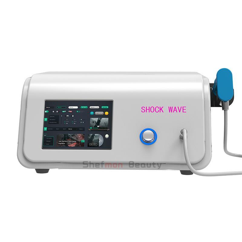 ED 치료 통증 완화 마사지 살롱 사용을위한 휴대용 충격파 치료 기계 공압 충격파 치료 장비
