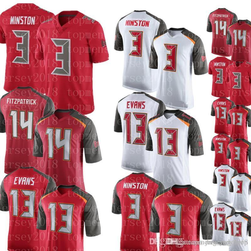 wholesale dealer 81098 ad02a Men s Tampa Bay Buccaneers 14 Ryan Fitzpatrick Jersey 13 Mike Evans 3  Jameis Winston Football Jerseys Cheap sales