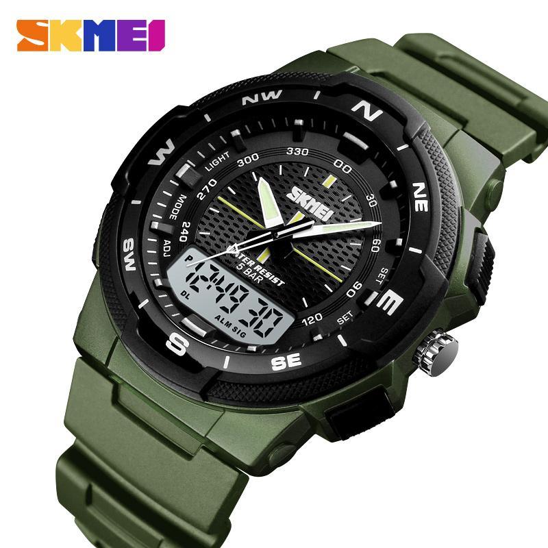 b1ffa0c7eb65 Compre SKMEI 2019 Relojes De Pulsera De Cuarzo Para Hombres Reloj Deportivo  Para Hombre Relojes Con Cronómetro Led Reloj Analógico Digital Para Hombres  ...