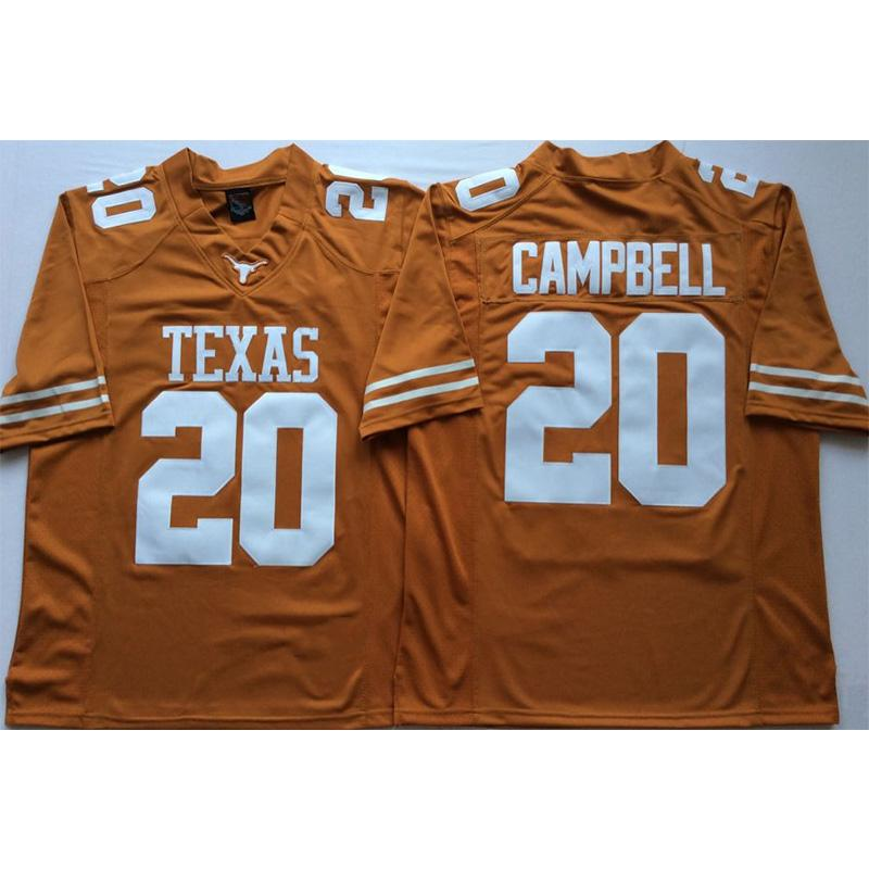 on sale 85763 8785f Mens Texas Texas Longhorns Earl Campbell Stitched Name&Number American  College Football Jersey Size S-3XL
