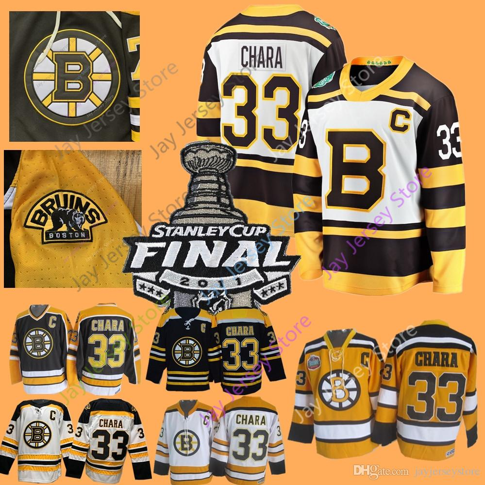 fdd952e14 33 Zdeno Chara Jersey 2011 Stanley Cup Ice Hockey Boston Bruins ...