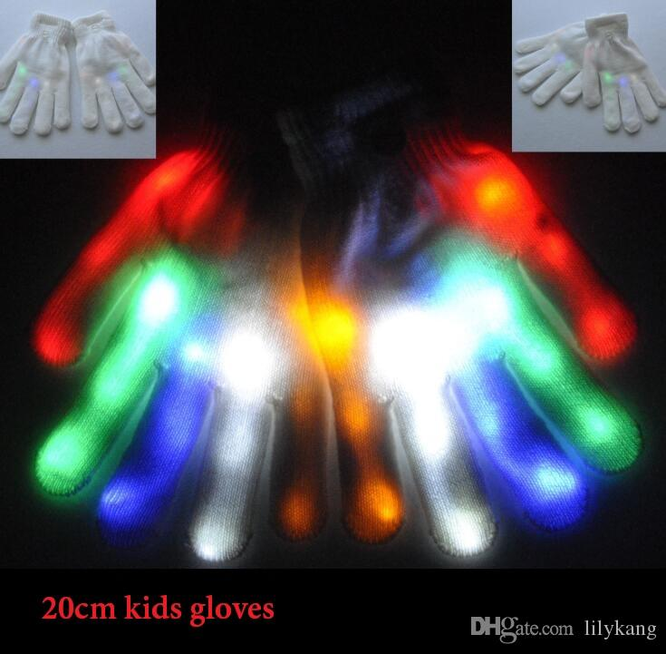 children halloween cosplay ghost skull gloves costumes party kids lighted up glove flashlight finger toches led safety outdoor sport glove