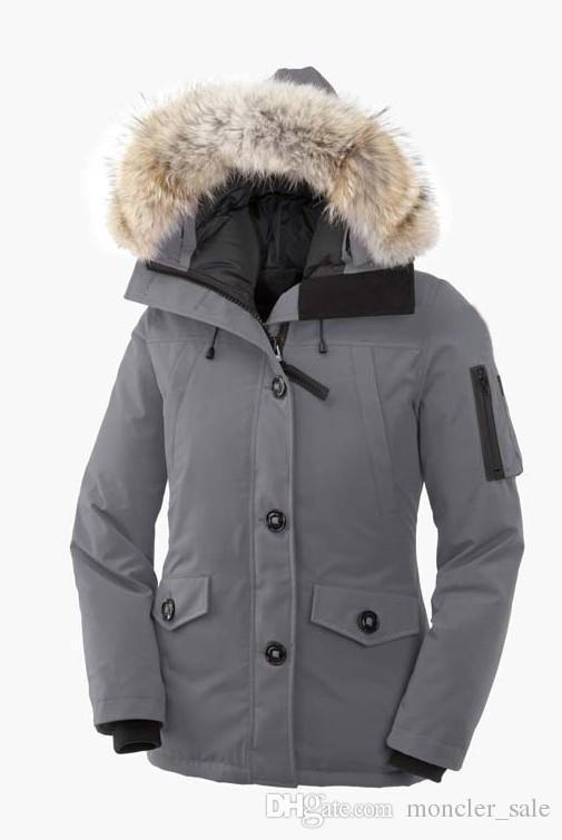 GG Sale Hiver Thick Warm Windproof Canada Down Coat Thicken Fourrure Hooded Jacket Manteaus Doudoune Women Femme Outdoors Fur Down Jacket