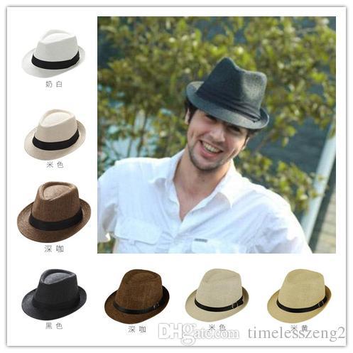 Compre Alta Calidad Unisex Panamá Sombreros Ventilar Sombrero De Paja  Sombrero De Jazz Sombrero Fedora Sombrero Hombre Mujer Sol Sombreros  Sombrero De Ala ... 3201ff28ed5