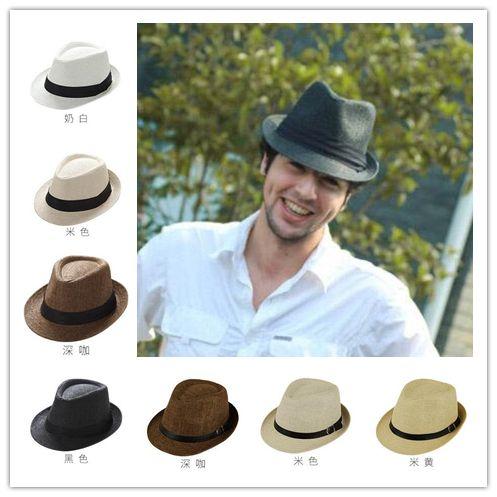 High Quality Unisex Panama Hats Ventilate Straw Hat Jazz Hat Fedora ... 2fd9eaddbe7e