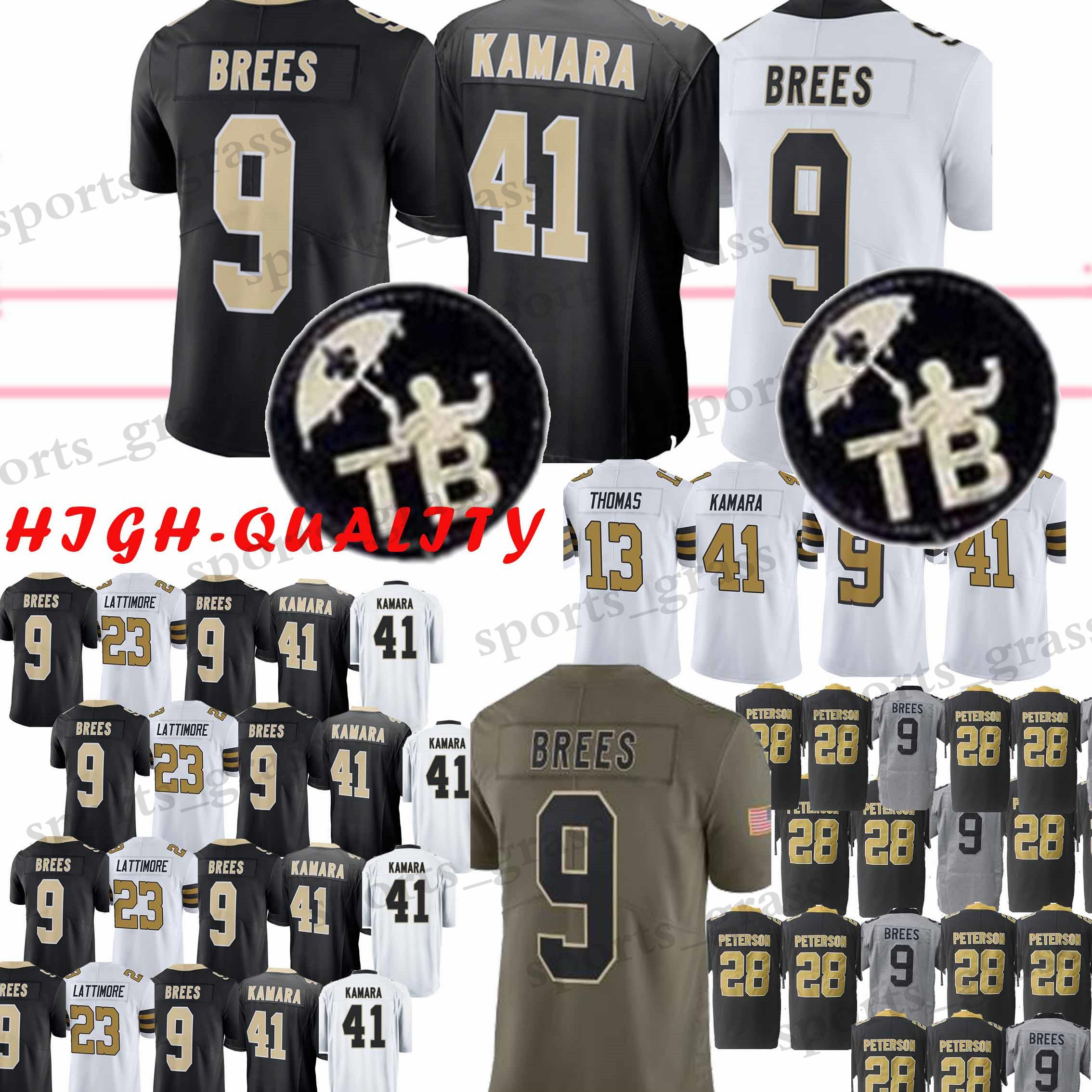 2019 9 Drew Brees New Orleans 41 Alvin Kamara 88 Dez Bryant Saints 13  Michael Thomas 23 Marshon Lattimore Jersey 2019 Youth Adult High Quality  From ... 0e984fd47