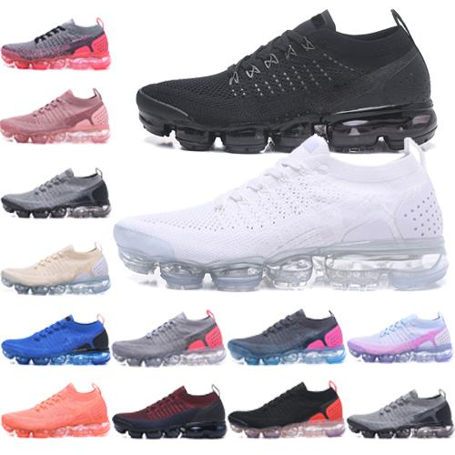 2019 top 2018 mens designer de chaussures de luxe Air Running Trainer fly Sports plus en tricot hommes Wave Runner femmes Sneakers Sneakersvapormax