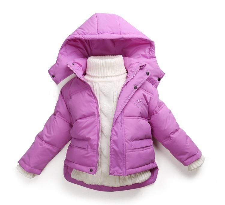6189e88d4 Winter Children Girls Jackets Brand Hooded Kids Baby Girls Clothing  Outerwear For 1-7 Years Boys Down Coat Casacos De Inverno