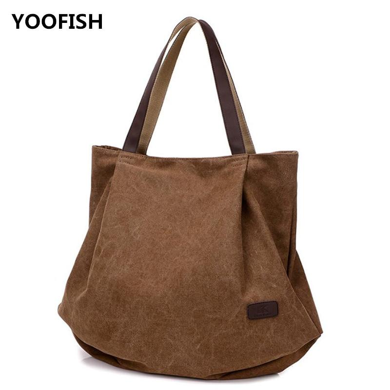Hot Sale Canvas Women S Bag Retro Fashion Single Shoulder Bag Casual  Versatile Large Capacity Handbag XZ 083 . Purses Designer Handbags From  Blacpink 4e1112e848dd2