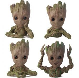 Guardians of The Galaxy Flowerpot Tree Man Baby Groot Action Figure Pen Container Doll Cute Model Christmas Toys OOA6292