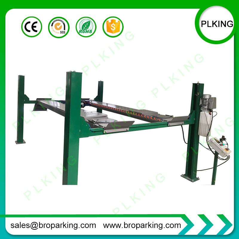 2019 3500kg 4 Post Car Lift With Jack For Wheel Alignment From