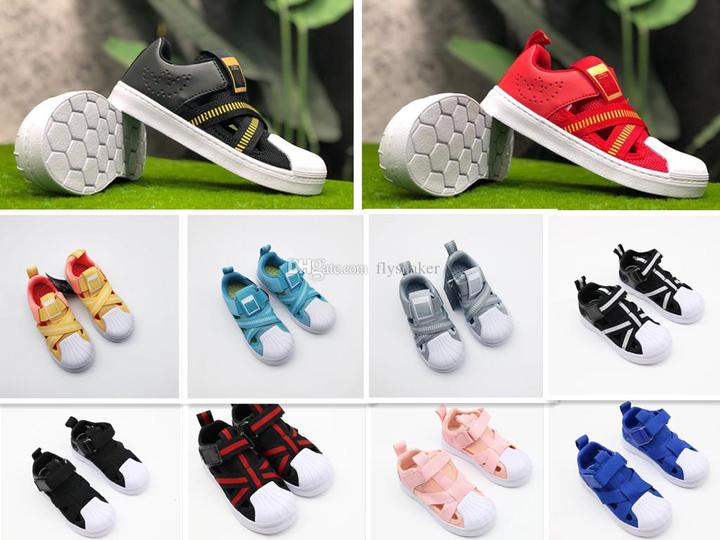 finest selection 1fc64 21f9b 2019 10 colors Kids superstar 360 Children s summer sports shoes boys girls  breathable mesh shoes hollow sandals Baby birthday gift 26-35