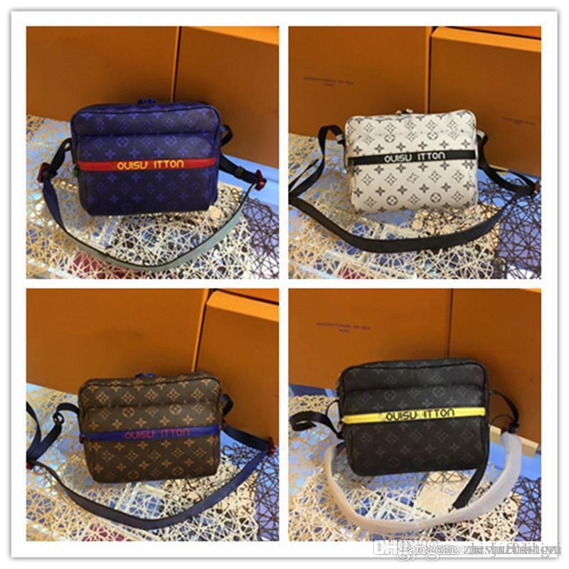 LoVuitto Monograms Messenger PM Blue Kim Jones collection PM Brown Honolu 43845 43829 43843 43845 Size:25.5*5.5*19cm