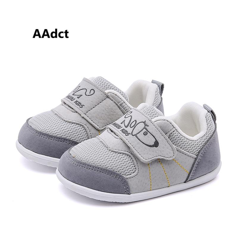 df3c30355ae AAdct Baby Casual Shoes New 2019 Mesh Breathable Toddler Baby Shoes For  Little Girls Boys Brand High Quality Cool Kids Sneakers Kids White Runners  From ...