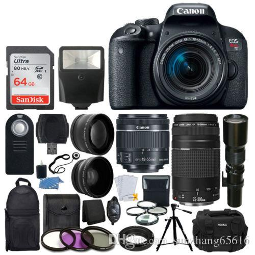 Brand Original Canon Eos Rebel T6 Dslr Camera With 18 55mm Is Ii Lens Bundle Canon Ef 75 300mm F 4 5 6