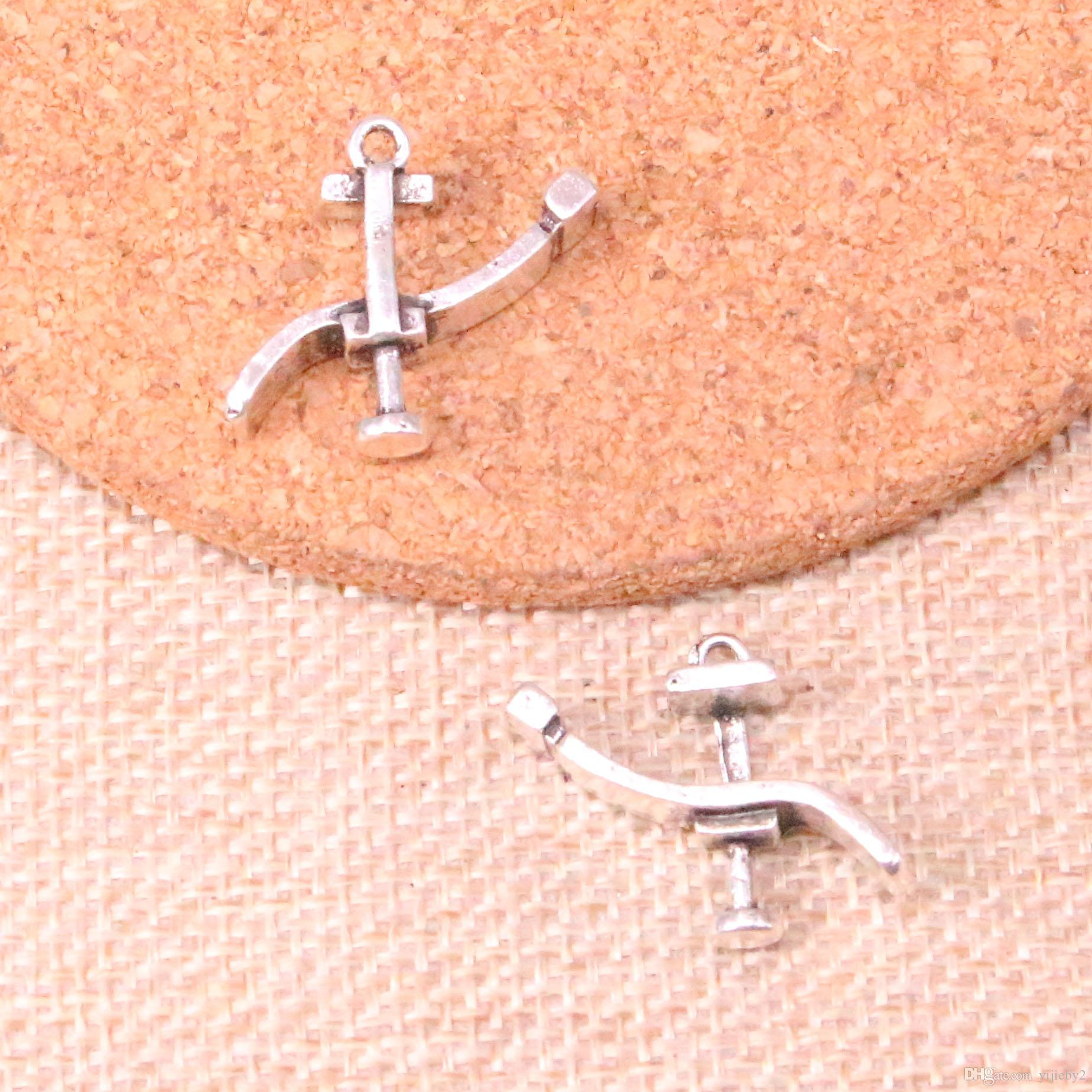 74pcs Antique Sliver dentists bed treatment center Charm Pendant DIY Necklace Bracelet Bangle Findings 20*24mm