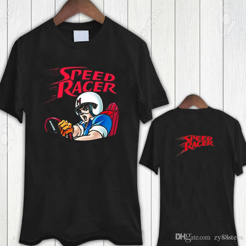 Speed Racer Vintage Cartoon Tee Tshirt Men's T-Shirt Size S To 3Xl T Shirt Men Boy Designed Custom Short Sleeve Boyfriend's XXXL Couple