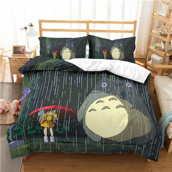 3D Tonari no Totoro Cover set Soft Gift Bedding set comforter Bed Pillowcase King bedding comfortable