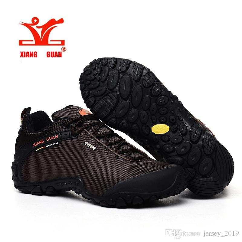 25434855eae 2019 XIANG GUAN Mens Hiking Shoes Mountaineering Tourism Fishing Sports  Sneakers For Man Off Road Rubber Slip Resistant Black Outdoor #168807 From  ...