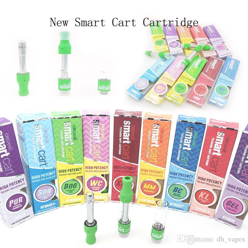 Cartridge Smart Cart Green Empty Dank Vape Pen Atomizer 1 0ml cartridge  Ceramic Coil Tank Vape Vaporizer for 510 Thread Thick Oil Vaporizer