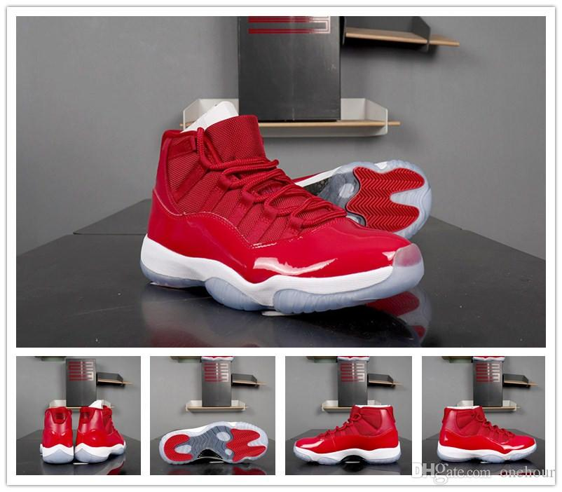 half off 813c7 91fc4 New 11 GS Win Like 96 Gym Red White-Black Men Basketball Shoes real carbon  athletic sneakers 11s trainer mens shoes