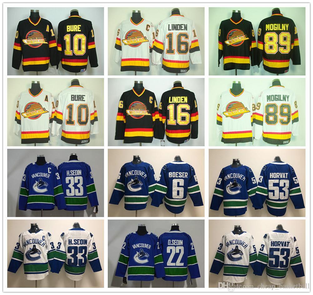 becbd55d3b4 ... 2019 vancouver canucks 16 trevor linden jersey vintage ccm ice hockey  10 pavel bure 89 alexander