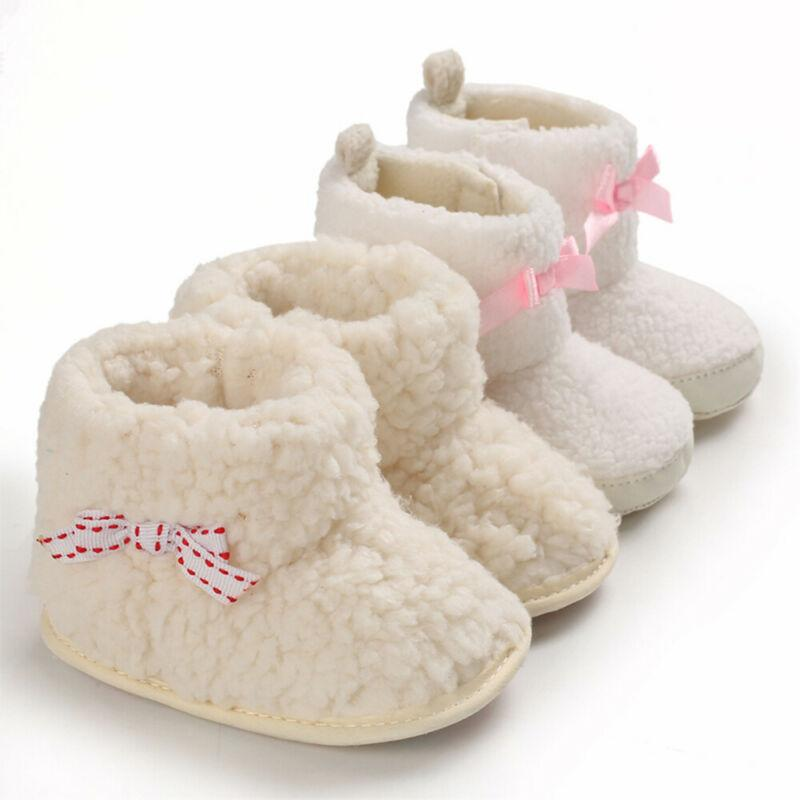 Free Shipping Newborn Baby Boots Girl Toddler Fur Boots Soft Sole Crib Warm Shoes Booties Prewalkers Winter Warm Cotton Hot 2019