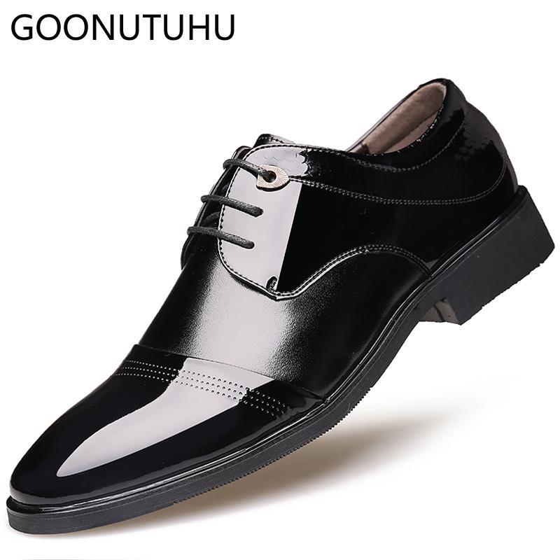 brand new 4c4f4 29d7e Scarpe classiche da uomo classiche nere allacciate in pelle da uomo  eleganti da lavoro business scarpe da uomo calzature da uomo scarpe da  festa per ...