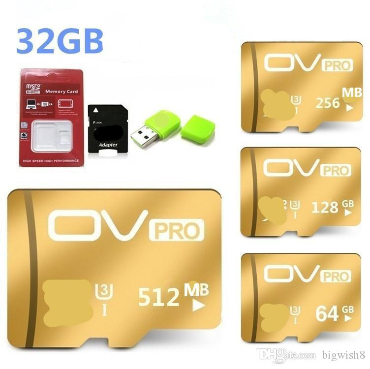 New Gold 512MB 256MB 128GB 64 GB 32GB Micro Sd Cards Class10 Memory Card Usb Flash Drive TF Storage Accessories 119 Ethernet Ex Hard