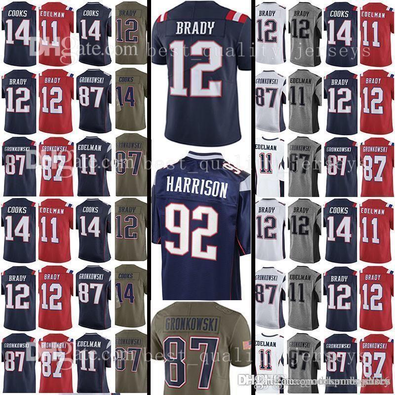 13dae7b854f 12 Tom Brady 92 James Harrison Jerseys 14 Brandin Cooks 11 Julian ...